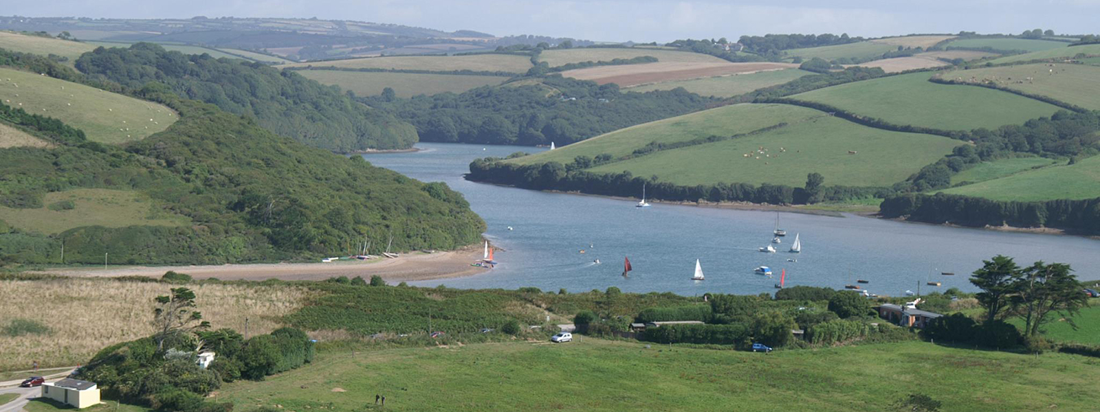 bantham view of the river avon estuary