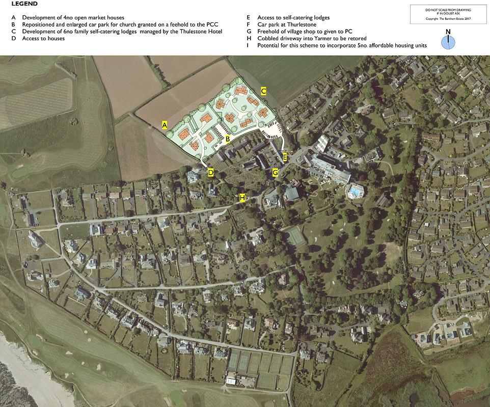 Thurlestone new houses plans map
